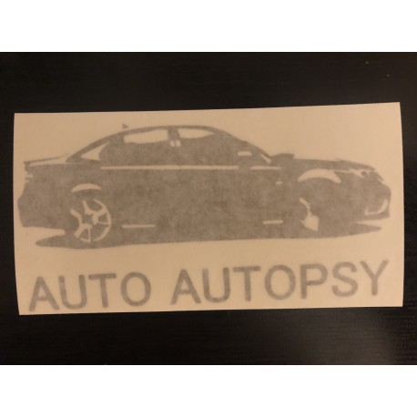 Auto Autopsy Decal GOLD