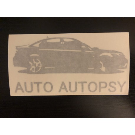 Auto Autopsy Decal SILVER