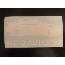 Auto Autopsy Decal WHITE
